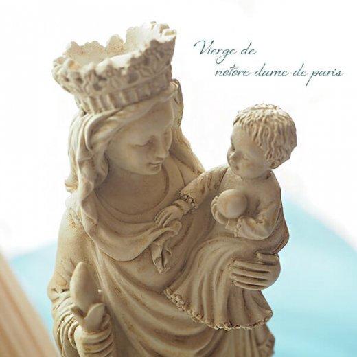 フランス直輸入 聖母子像 【Mサイズ】聖母マリア オブジェ ノートルダム大聖堂 寺院 スーベニア Notre-Dame de Paris souvenir【画像3】