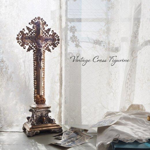 送料無料 フランス アンティーク INRI 十字架 キリスト オブジェ