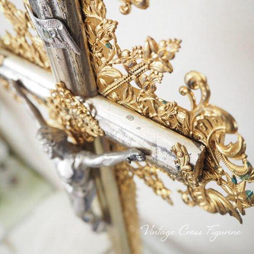 送料無料 フランス アンティーク INRI 十字架 キリスト オブジェ【画像3】