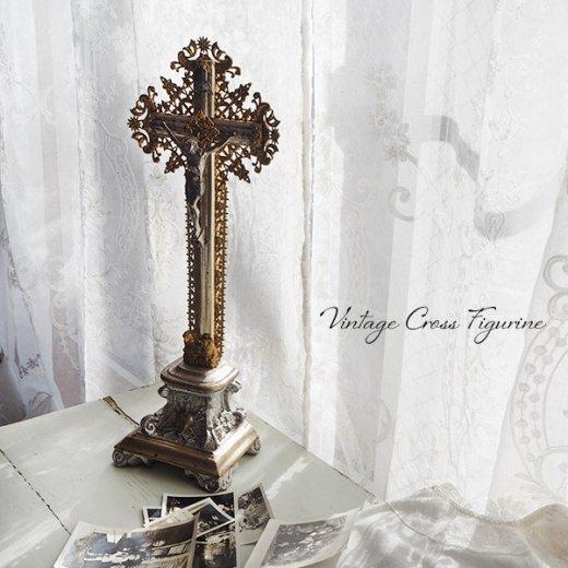 送料無料 フランス アンティーク INRI 十字架 キリスト オブジェ【画像5】