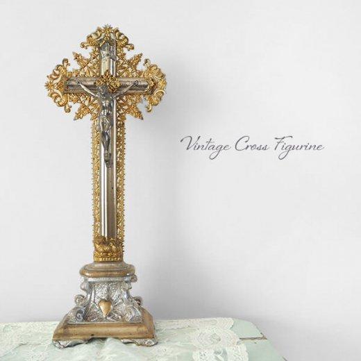 送料無料 フランス アンティーク INRI 十字架 キリスト オブジェ【画像10】