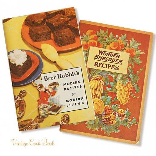 USA・1931年 レシピブック 2冊セット Brer Rabbit's(ヴィンテージ本)