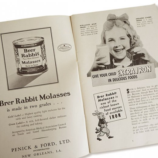USA・1931年 レシピブック 2冊セット Brer Rabbit's(ヴィンテージ本)【画像9】