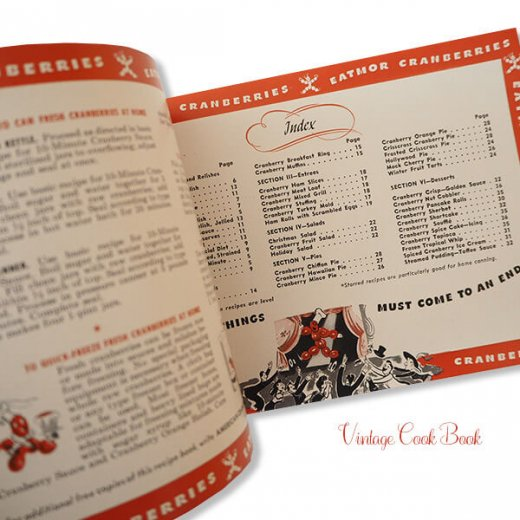 USA・1937,1950年 ベリー レシピブック 2冊セット(ヴィンテージ本)【画像6】