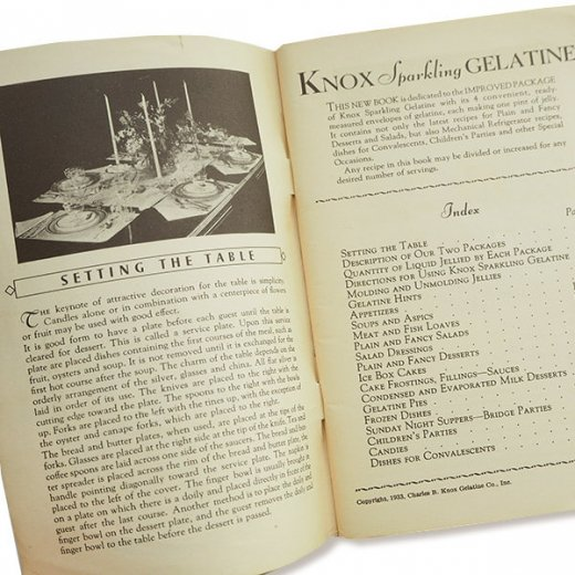 USA 1933年 KNOX gelatine ノックス ゼラチン(ヴィンテージ本)【画像7】