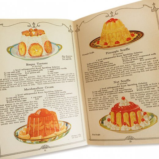 USA 【希少】1927年 KNOX dainty desserts ノックス ゼラチン(ヴィンテージ本)【画像3】
