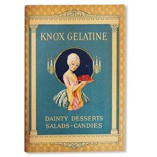 アンティーク USA 【希少】1927年 KNOX dainty desserts ノックス ゼラチン(ヴィンテージ本)