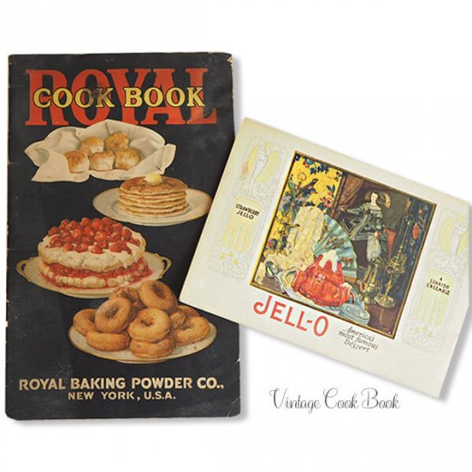 USA 【希少】1923年 JELL-O ジェロー レシピブック・Royal cookbook 2冊セット(ヴィンテージ本)