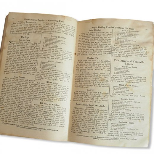 USA 【希少】1923年 JELL-O ジェロー レシピブック・Royal cookbook 2冊セット(ヴィンテージ本)【画像6】