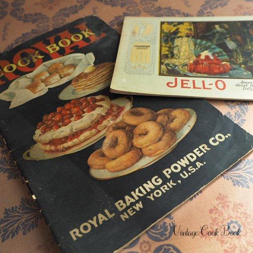 USA 【希少】1923年 JELL-O ジェロー レシピブック・Royal cookbook 2冊セット(ヴィンテージ本)【画像7】