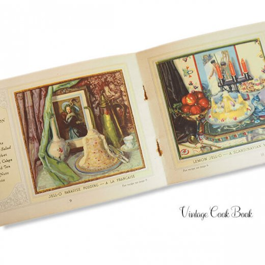 USA 【希少】1923年 JELL-O ジェロー レシピブック・Royal cookbook 2冊セット(ヴィンテージ本)【画像8】