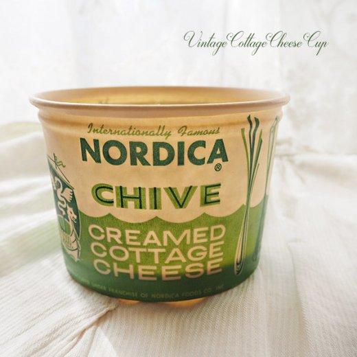 1950年代 デッドストック カッテージチーズカップ 【ノルディカ チャイブ】【画像2】