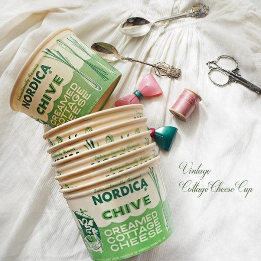 1950年代 デッドストック カッテージチーズカップ 【ノルディカ チャイブ】【画像4】