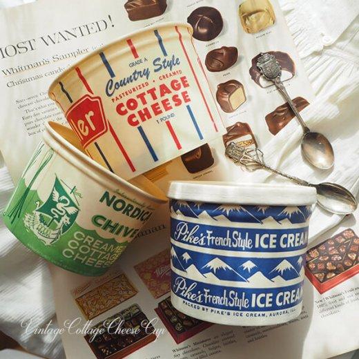 1950年代 デッドストック カッテージチーズカップ 【ノルディカ チャイブ】【画像9】