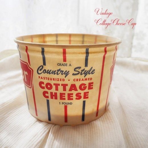 1950年代 デッドストック カッテージチーズカップ 【miller】【画像2】