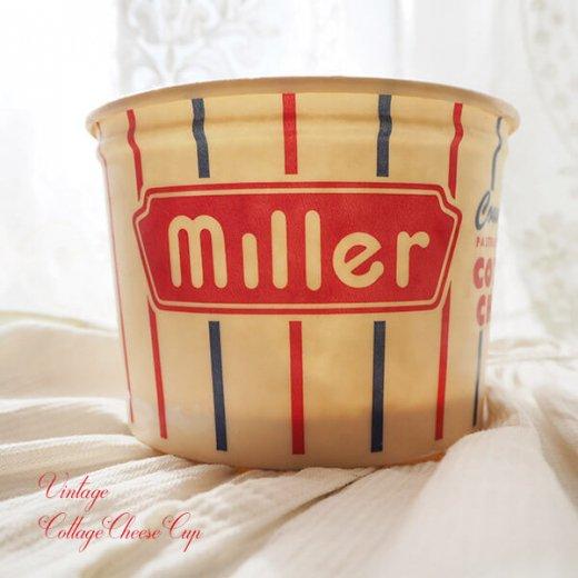 1950年代 デッドストック カッテージチーズカップ 【miller】【画像3】