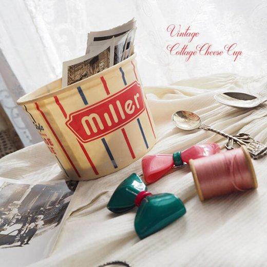 1950年代 デッドストック カッテージチーズカップ 【miller】【画像5】