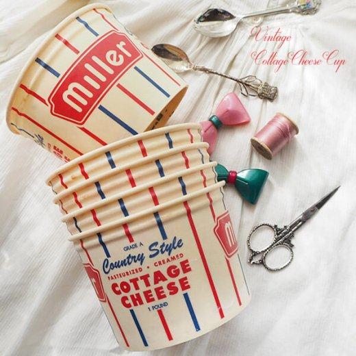 1950年代 デッドストック カッテージチーズカップ 【miller】【画像7】