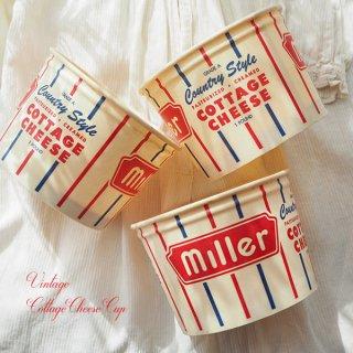 1950年代 デッドストック カッテージチーズカップ 【miller】