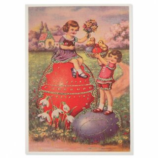 ドイツ イースター 復活祭 ポストカード (Paques T)