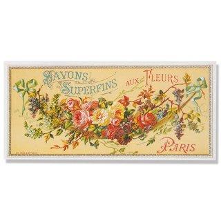 バラ ローズ 雑貨 フランス ミニポストカード サボンアドカード (Savons Superfins aux Fleurs Paris)