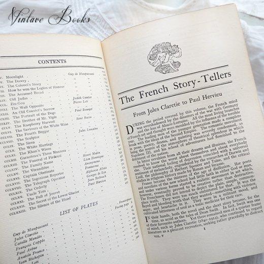 イギリス 20世紀初頭 アンティーク本【5/ French】 THE MASTERPIECE LIBRARY SHORT STORIES【画像5】