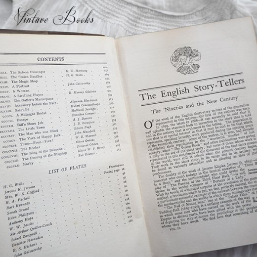 イギリス 20世紀初頭 アンティーク本【9/ English】 THE MASTERPIECE LIBRARY SHORT STORIES【画像4】