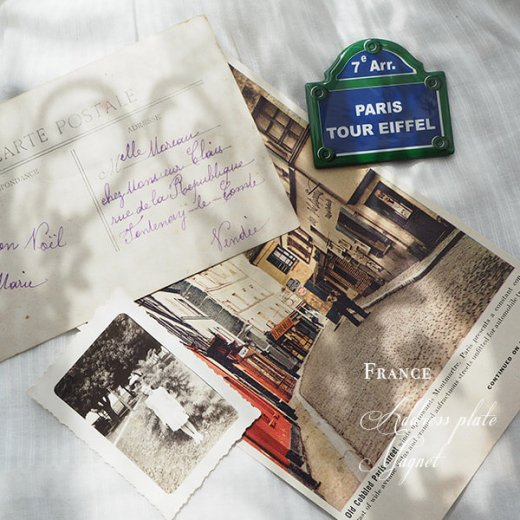 フランス直輸入! パリ 道路看板 マグネット パリ エッフェル塔【PARIS TOUR EIFFEL】(Souvenir de paris お土産)【画像4】