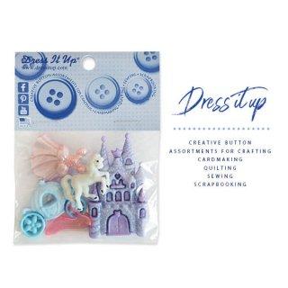 USA Dress It Up ボタン クラフト素材(シンデレラ城)