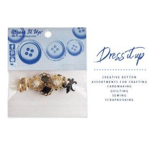 ガーリー 雑貨 USA Dress It Up ボタン クラフト素材(ビクトリアン)