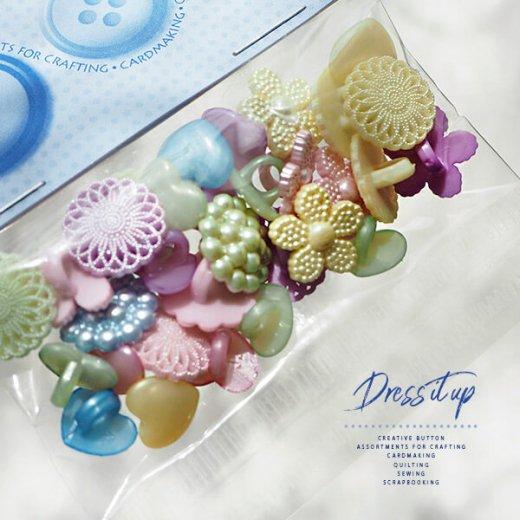 USA Dress It Up ボタン クラフト素材(パステルアソート)【画像2】