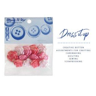USA Dress It Up ボタン クラフト素材(バラ・ROSE・ローズ)