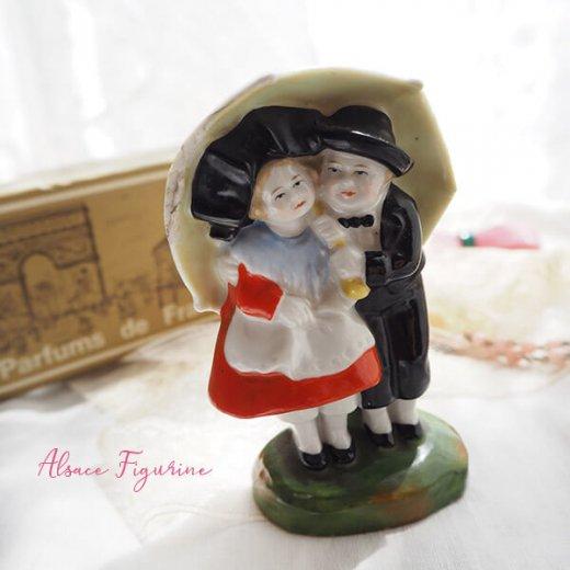 フランス蚤の市より 1938年 アンティーク アルザス地方 陶器のオブジェ