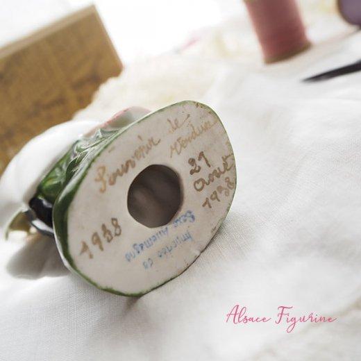 フランス蚤の市より 1938年 アンティーク アルザス地方 陶器のオブジェ【画像2】
