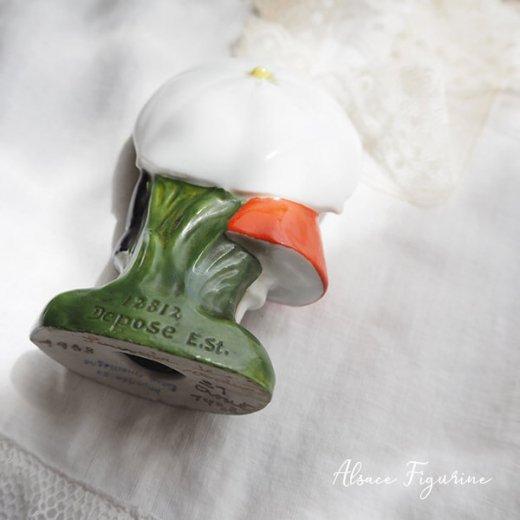 フランス蚤の市より 1938年 アンティーク アルザス地方 陶器のオブジェ【画像3】
