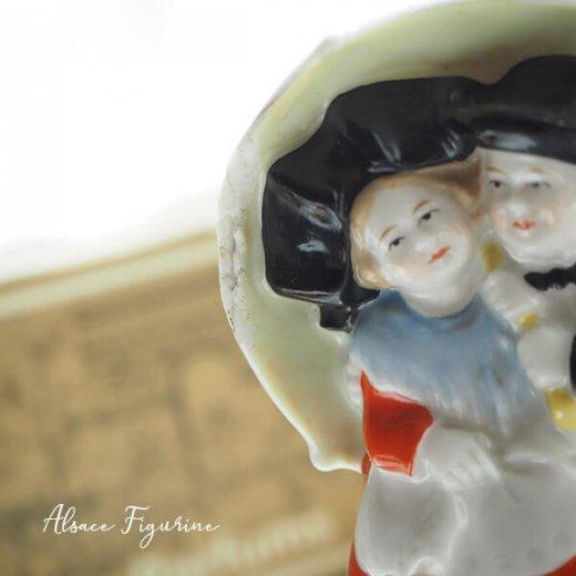 フランス蚤の市より 1938年 アンティーク アルザス地方 陶器のオブジェ【画像4】
