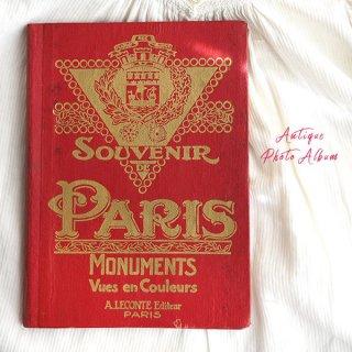 【希少】1910年 フランス  アンティーク 彩色写真 スーベニア フォトカード集(souvenir de paris)
