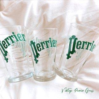 フランス買い付け 【単品販売】ヴィンテージ Perrier(ペリエ)グラス