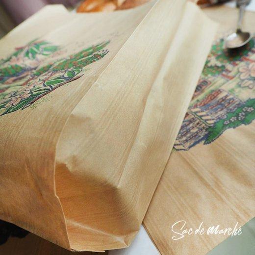 マルシェ袋 フランス 海外市場の紙袋(アン ポミエ)5枚セット【画像3】
