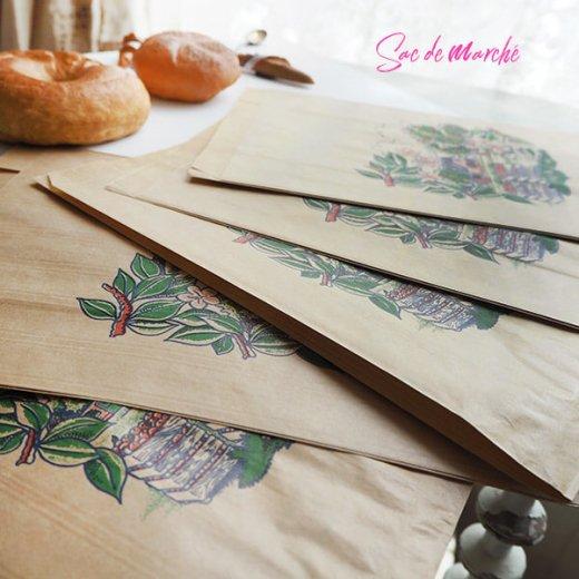 マルシェ袋 フランス 海外市場の紙袋(アン ポミエ)5枚セット【画像5】