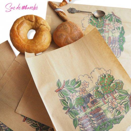 マルシェ袋 フランス 海外市場の紙袋(アン ポミエ)5枚セット【画像7】