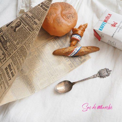 マルシェ袋 スペイン 海外市場の紙袋 三角包 (News Spaper)5枚セット【画像2】