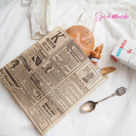 マルシェ袋 スペイン 海外市場の紙袋 三角包 (News Spaper)5枚セット【画像6】