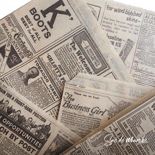 マルシェ袋 スペイン 海外市場の紙袋 三角包 (News Spaper)5枚セット【画像7】