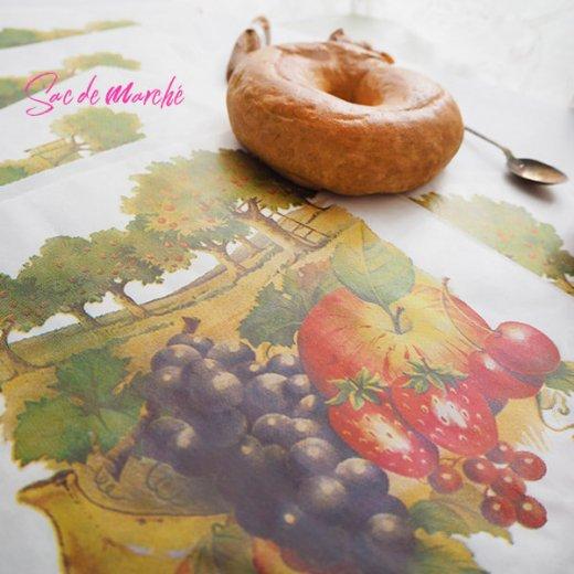 マルシェ袋 フランス 海外市場の紙袋(フルーツ樹木)5枚セット【画像3】