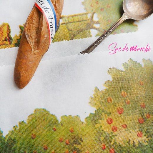 マルシェ袋 フランス 海外市場の紙袋(フルーツ樹木)5枚セット【画像6】