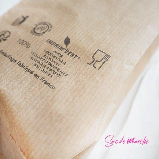 マルシェ袋 フランス 海外市場の紙袋(Delices・Craft)5枚セット【画像4】
