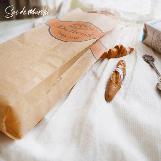 マルシェ袋 フランス 海外市場の紙袋(Delices・Craft)5枚セット【画像5】