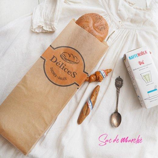 マルシェ袋 フランス 海外市場の紙袋(Delices・Craft)5枚セット【画像6】