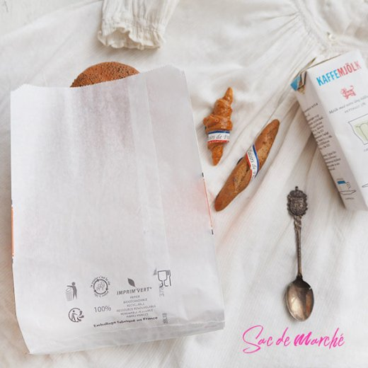 マルシェ袋 フランス 海外市場の紙袋(Delices・Orange)5枚セット【画像4】